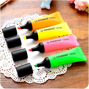 4 pcs/Lot neon highlighter Toothpaste marker pen fluorescent oblique boligrafos Stationery Office School supplies 6826