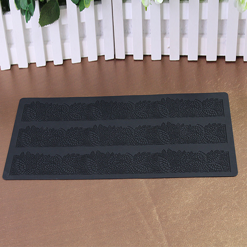 40*20CM Hot Selling Flower Leaf Sugar Silicone mat  Cake Lace Mold Cake Decorating Tools Fondant Mould