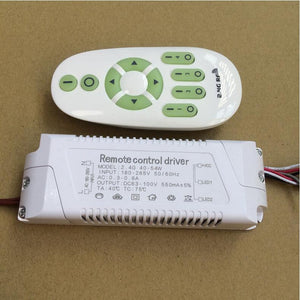 40-54W 180-265V Stepless dimming power supply 2.4G remote control dimmer driver for LED ceiling lighting dual color drive