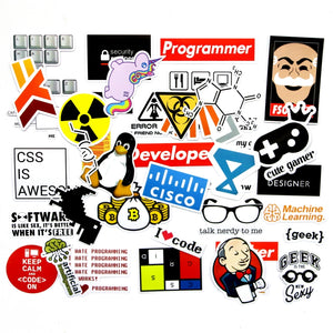 40 Pieces/set SQL Programming Geek Hacker Bitcoin developer Language APP Logo Funny Laptop Phone waterproof Stickers