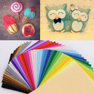 43Colors 10*15cm Polyester Nonwoven Fabric For Needlework DIY Handmade Sewing Crafts Feutrine Floth 1mm Thickness Felt Fabric