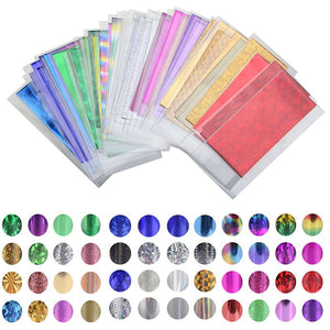 48 Sheet 35cm*4cm Mix Color Transfer Foil Nail Art Star Design Sticker Decal For Polish Care DIY  Universe Nail Art