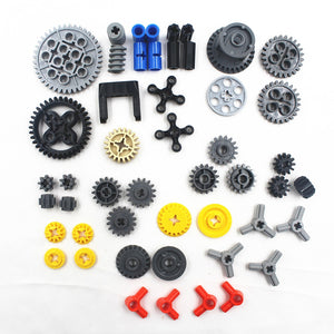 49pcs/lots technic series parts car model building blocks set compatible with lego for kids boys toy building bricks gears