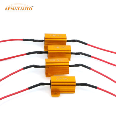 4pc 25W Turn Signal Light DRL Load Resistor Fix Error fast Flash T20 7440 W21W WY21W 7443 W21/5W 3156 3157 1156 P21W BAU15S 1157