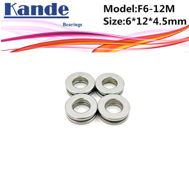 4pcs F6-12M  6x 12 x 4.5mm  F6-12 high quality Miniature planar bearing 6x12x4.5 mm Axial Ball Thrust Bearing