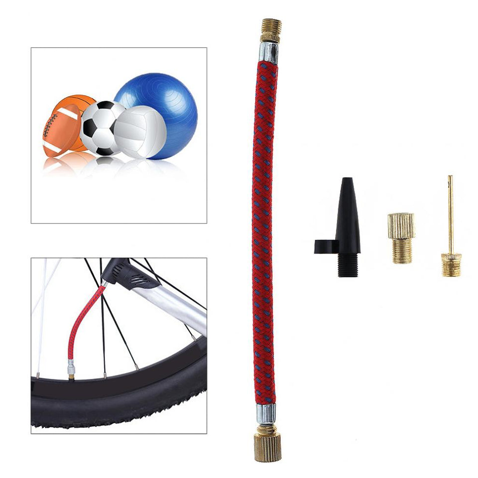 4pcs Portable Nozzle Valve Air Hose Inflating Needles Pump Inflator Connector for Inflatable Ball MTB / Road Bicycle Tyre