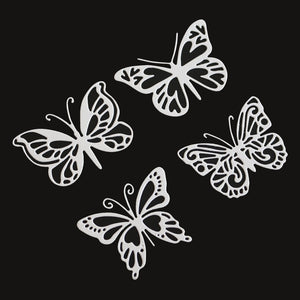 4pcs butterfly Metal Cutting Dies for DIY Scrapbooking Embossing Paper Cards making Decor Crafts stempels met dies troquel flore