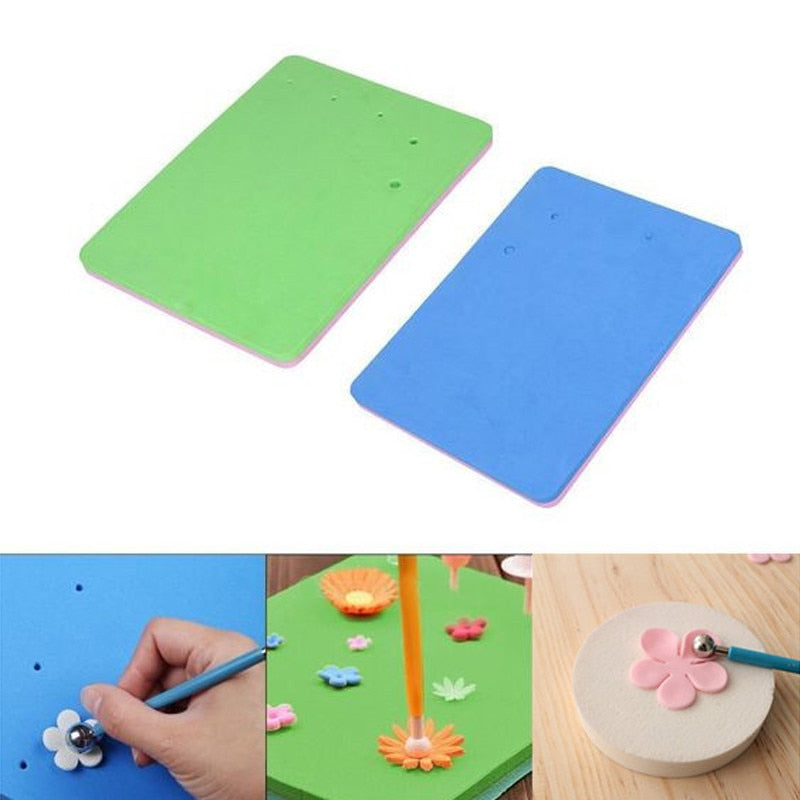 5 Holes Kitchen Fondant Cake Decorating Flower EVA Foam Mat Sugarcraft Sponge Pads For Sugar Craft Decor
