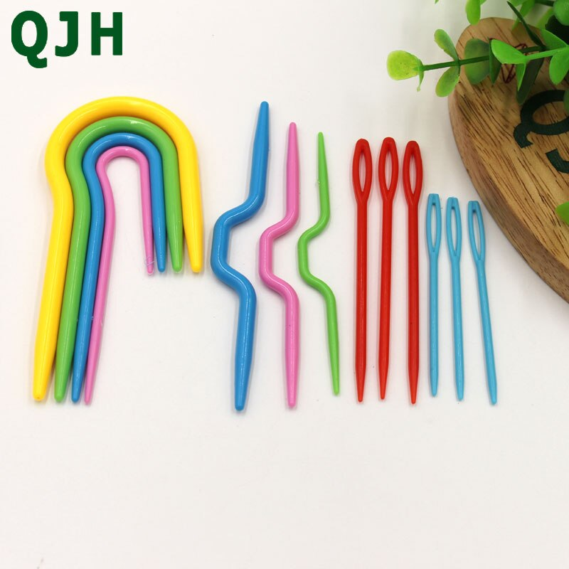 5 Sets ABS Plastic Knit Stitch Knitting Needles Crochet Hook Plastic Markers Needle Clip Craft Knitting Crochet Locking Stitch