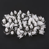 50PC/Bag Door Panel Clips With Seal Ring For BMW E34 E36 E38 E39 E46 M3 M5 Z3 X5