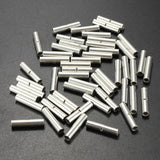 50Pcs 18-22 AWG Gauge Uninsulated/Non Insulated Butt Crimp Connectors Terminal
