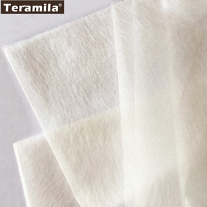 50cmx110cm/piece patchwork interlining fabrics telas Double faced adhesive tape quilting fabric Cream white batting accessory