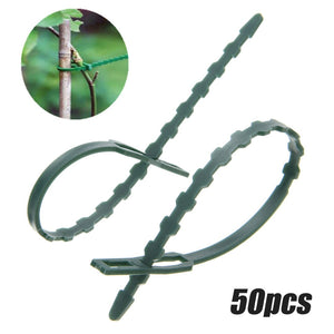 50pcs Reusable Plastic Garden Plant Cable Ties Adjustable Cable Ties for Tree Climbing Support Garden Supplies