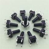 50pcs/lot  6x6x12MM 4PIN G95 Tactile Tact Push Button Micro Switch Direct Self-Reset DIP Top Copper Russia