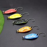5Pcs 3.2cm/3g Wobbler Sequin Spoon Lures Artificial Bass Hard Baits Single Hook  Tackle Lures Trout Blinker Fishing Tackle