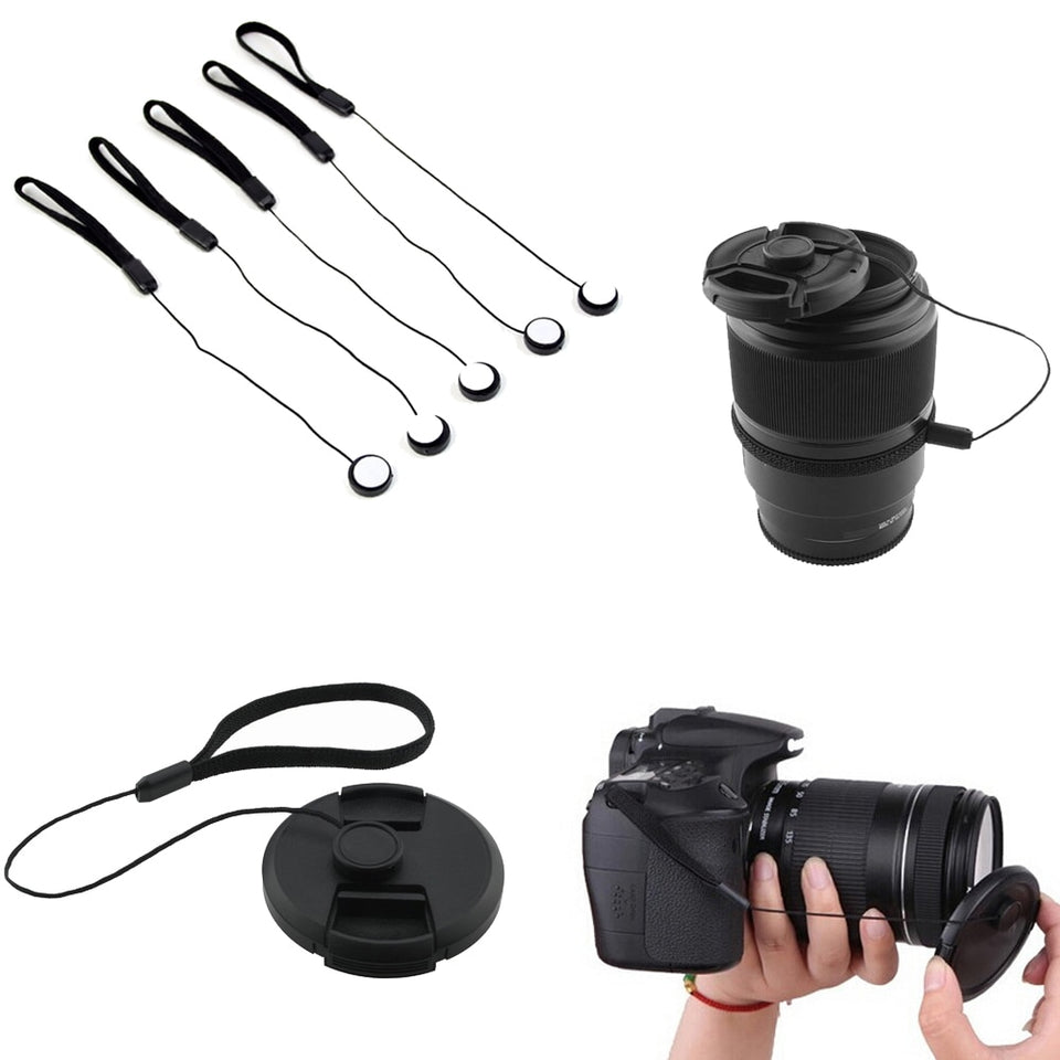 Lens Cap Keeper String Strap Cord Rope Leash Holder For Canon Nikon Sony Camera
