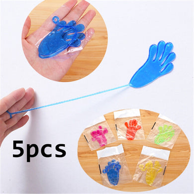 5pcs Party Favors Supplies Sticky Hands Slap Squishy Toy Play Pinata Fillers Birthday Gift Treat Bag Wedding Favors And Gifts