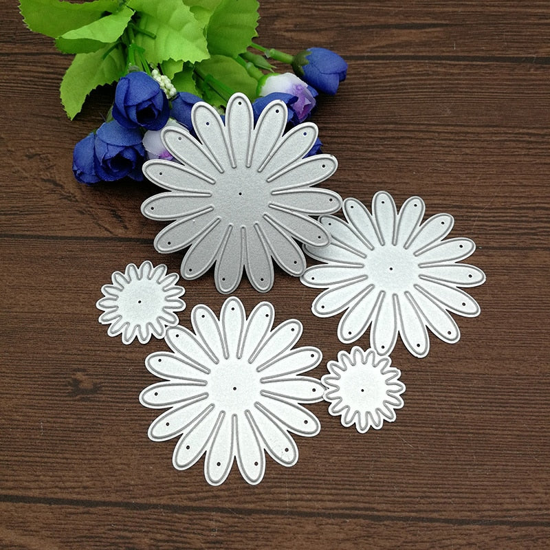 5pcs/Set Craft Dies Flower Decor Metal Cutting Dies Scrapbooking stamps embossing paper Cards border template punch Stencils DIY