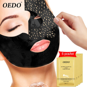 5pcs remove black nose paste strong clean pores nasal mask black mask purification horny care men and women nose acne blackhead
