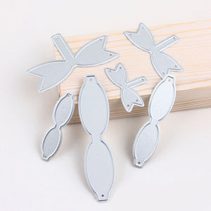 6 PCS Assorted Size Metal Bow Knot Tie Cutting Dies Set Embossing Stencils Templates Mould for DIY Scrapbooking Album Paper Card