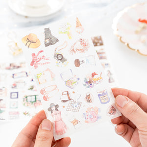 6 pcs/pack Meet Art Young People Sticker Stickers Diary Sticker Scrapbook Decoration PVC Stationery Stickers