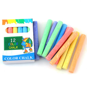 6color 12pens/box Dustless Chalk Pen Drawing Chalks For Blackboard Stationary Office School Supplies Accessories Tizas Escolar