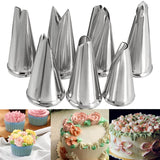 7 Pcs/lot Decorating Tip Set Leaves Cream Metal Stainless Steel Icing Piping Nozzles Cake Decorating Cupcake Pastry Tools