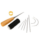 7PCs DIY Leather Craft Tools Kit Hand Sewing Stitching Punch Carving Work Saddle Leathercraft Accessories