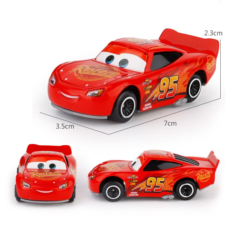 7Pcs/set Disney Pixar Cars 3 Lightning McQueen Jackson Storm Cruz Mater Mack Uncle Truck 1:55 Diecast Metal Car Model Boy Toy