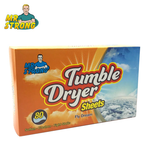 80pcs/box Tumble Dryer Clothes Controlling Orange Scent Static Cling In Fabrics Fabric Softener Sheets For Clothes