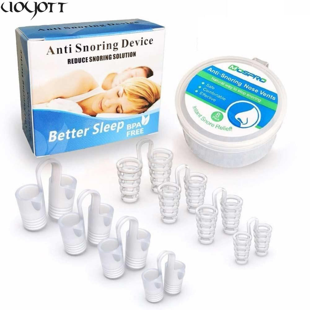 8Pcs/Box Anti Snore Apnea Nose Clip Anti-Snoring Breathe Aid Stop Snore Device Sleeping Aid Equipment Stop Snoring
