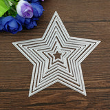 8pcs Basic Stars Cutting Dies Carbon steel Metal Cutting Dies Scrapbooking Decorative Paper Cards Template