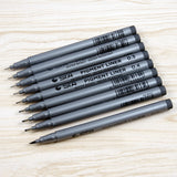 9 pcs/lot Brand Water Based Brush Markers Painting Draw Pigment Liner Triangular Fineliner Pens for Art Supplies Stationery