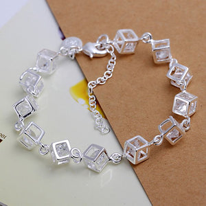 925 jewelry silver plated  jewelry bracelet fine fashion bracelet top quality  and retail SMTH241