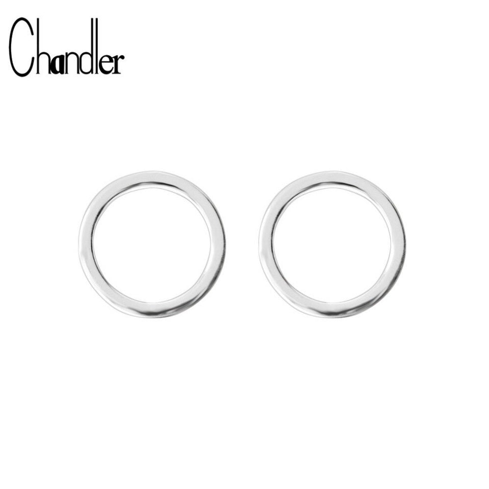 Chandler Round Circle Stud Earrings For Women Geometrical Casual Simple Ear Jewelry Online Sentiment Shopping India