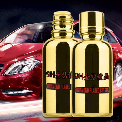 9H Car Liquid Ceramic Coat Auto Detailing Glasscoat Useful Anti-scratch Car Polish Motocycle Paint Care In Gold Bottle