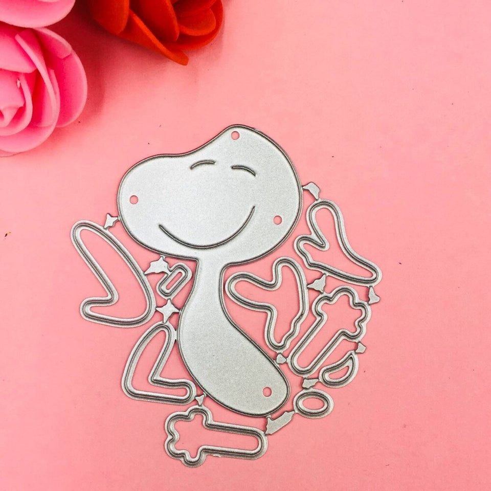 A lovely dog Cutting Dies Stencils for DIY Scrapbooking/photo album Decorative Embossing DIY Paper Cards