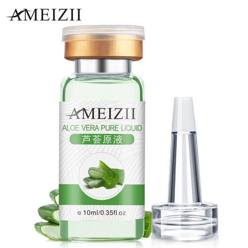 AMEIZII Aloe Vera Pure Liquid Hyaluronic Acid Anti Wrinkle Serum Moisturizer Essence Acne Treatment Oil Control Face Skin Care