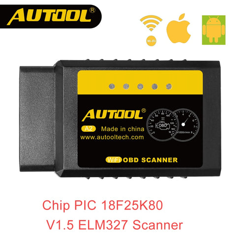 AUTOOL A2 ELM 327 V1.5 Wifi OBD2 Scanner OBD 2 II ELM327 Auto Car Diagnostic Scan Code Reader For Android iOS Win Iphone 25k80