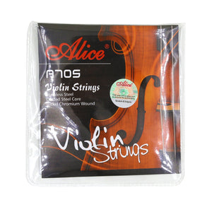 Alice A705 Violin Strings Set Stainless Steel Coated Steel Core Nickel Chromium Wound 4 Strings for 4/4,3/4,1/2,1/4,1/8