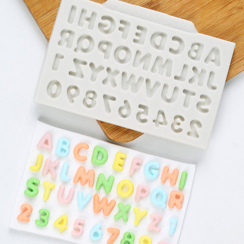 Alphabet & Number Silicone Mold Fondant Mould Cake Decorating Tools Chocolate Gumpaste Mold Sugarcraft Kitchen Accessories