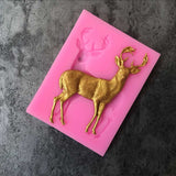 Aouke Christmas Deer Decoration Cookie Cutter Shape Food Grade Silicone Cake  Mold Cake Tools B025