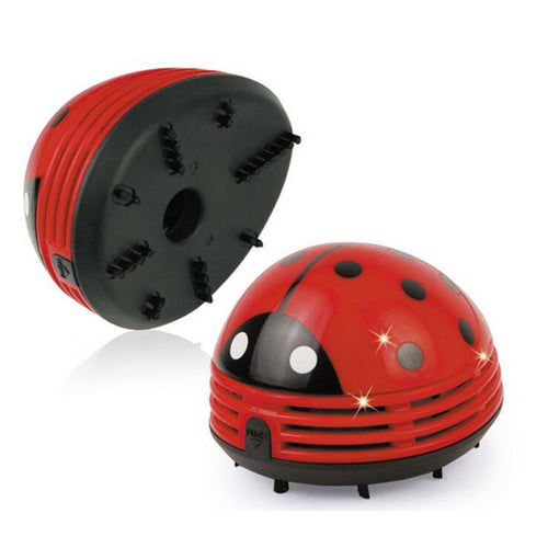 Armthm Mini Ladybug Desktop Coffee Table Vacuum Cleaner Dust Collector for Home Office