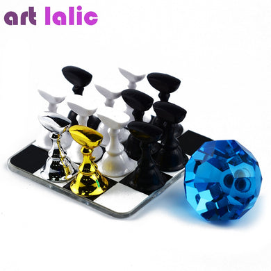 Artlalic 1 Set Nail Art Holder Strong Chess Board Magnetic Practice Display Beauty Crystal Nail Tips Gel Polish Manicure Tools