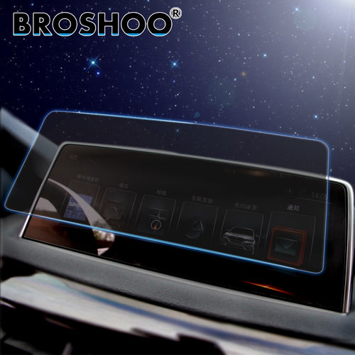BROSHOO Auto Car Multi-media GPS Navigation Radio Screen Steel Protective Film Stickers Decals For BMW F15 X5 F16 X6 Accessorie