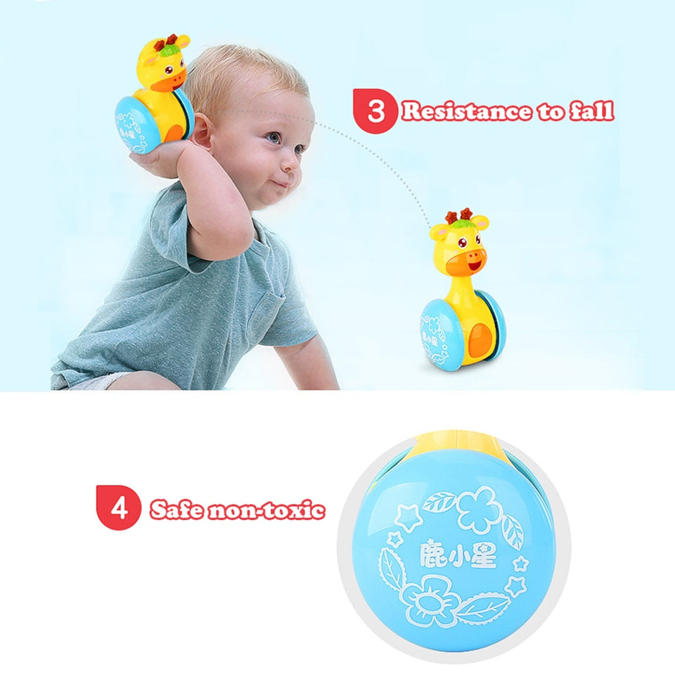 Baby Rattles Tumbler Doll Baby Toys Sweet Bell Music Roly-poly Learning Education Toys Gifts Baby Bell Baby Toys