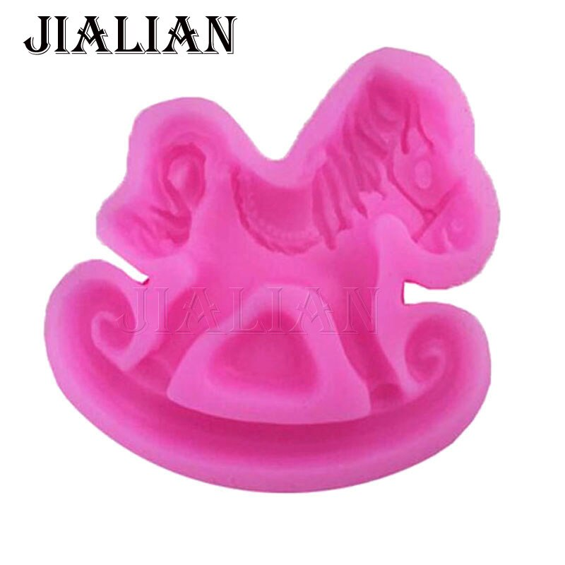 Baby Trojan horse toys shape Fondant baking chocolate silicone mold for cake decorating tools Craft Molds T0731