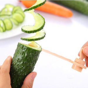BalleenShiny Creative Fruit Spiral Slicer Kitchen Cutting Vegetable Pattern Carved Flowers Gadget Cozinha Kitchen Tools