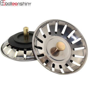 BalleenShiny Stainless Steel Sink Sewer Drain Hair Colander Stainer Filter Cover Bathroom Kitchen Sink Cover Tool