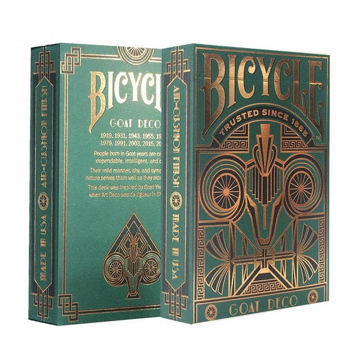 Bicycle Goat Deco Deck Standard Playing Cards USPCC Limited Edition Sealed Magic Cards Magic Props Close Up Magic Tricks